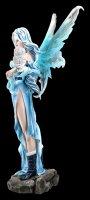 Große Elfen Figur - Millicent mit Eule