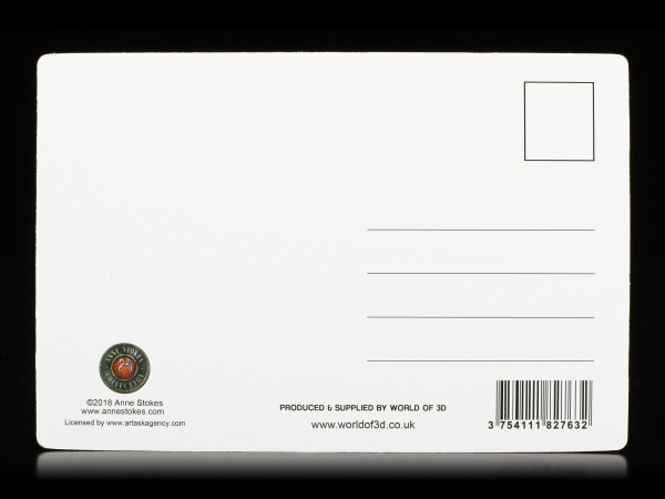 3D Postkarte mit Zauberin - Light in the Darkness