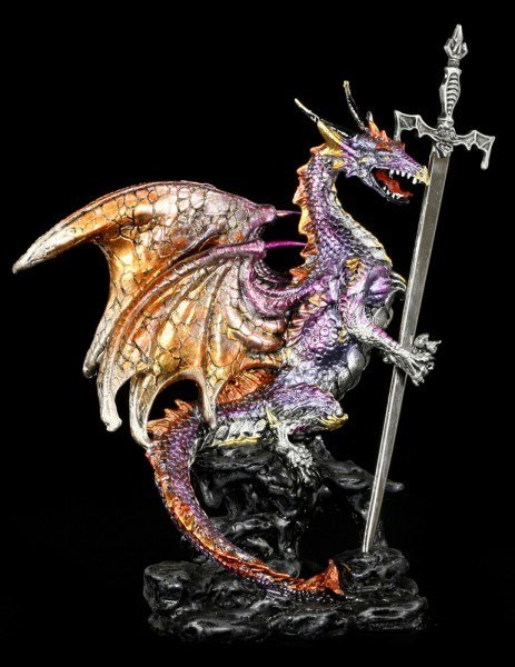 Letter Opener Dragon Figurine - Niir - colored