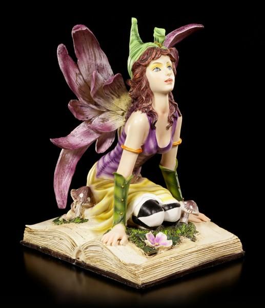 Elfen Figur - Myhia kniend auf Buch