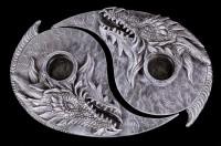 Teelichthalter - Drachen Yin Yang