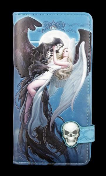 Geldbörse mit Engel und Sensenmann - Angel and the Reaper - geprägt
