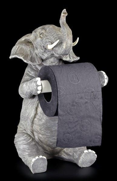 Toilettenpapierhalter - Sitzender Elefant