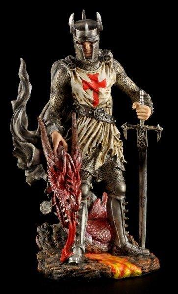 Kreuzritter Figur - Dragon Crusade St. Georg
