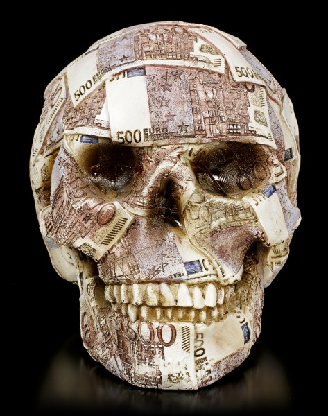 Money Bank Skull - Euros