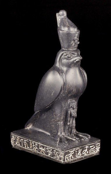 Schwarze Horus Figur