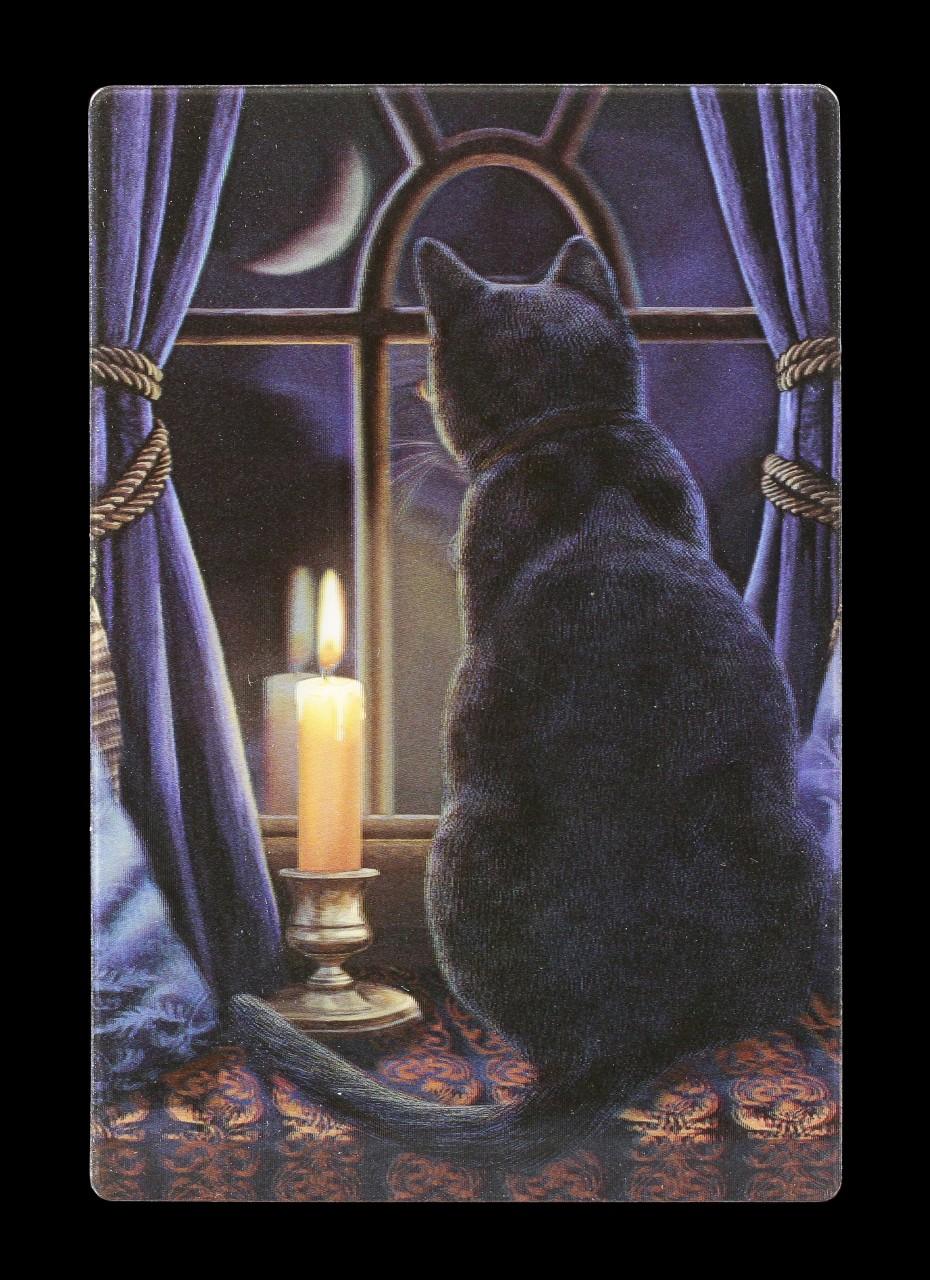 3D Postcard with Cat - Midnight Virgil