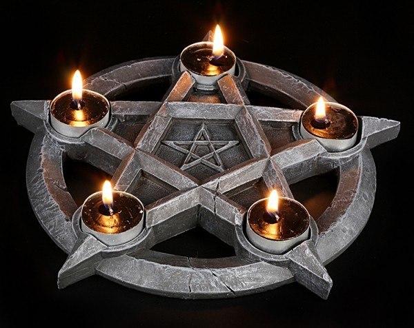 Pentagram Tealightholder
