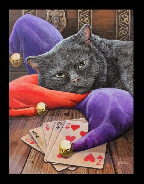 Kleine Leinwand mit Katze - Jester