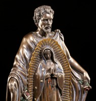 Heiligen Figur - St. Juan Diego - bronziert