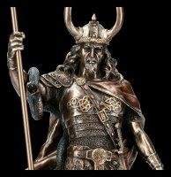 Loki Figur - Germanischer Gott mit Fenriswolf