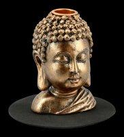 Buddha Kopf Backflow Räucherkegelhalter
