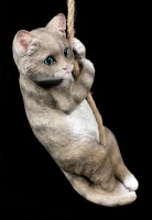 Garden Figurine - Cat on Rope