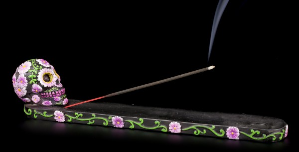 Incense Stick Holder - Sugar Petal Skull
