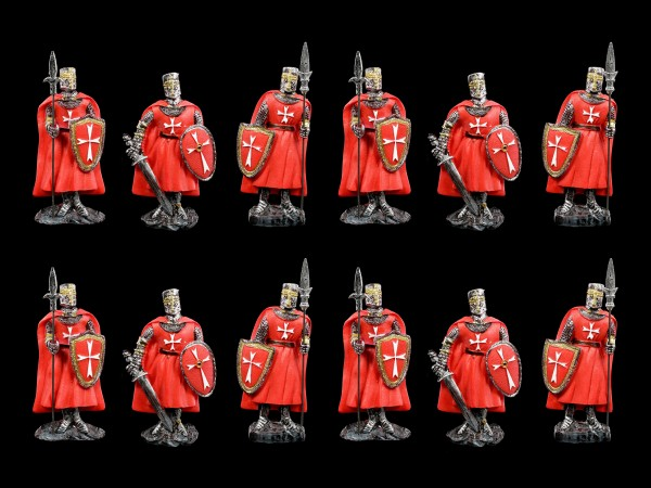 Fridge Magnets - Red Knights Set of 12