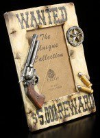 Wild West Picture Frame - Wanted