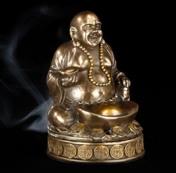 Räucherkegelhalter - Happy Buddha