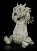 Drachen Gartenfigur - Ups