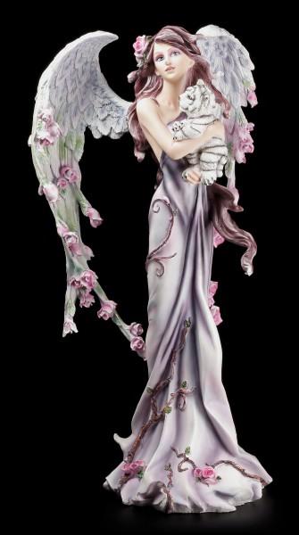 Guardian Angel Figurine - Cathetel with Tiger