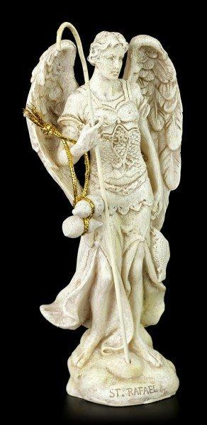 Kleine Erzengel Figur - Raphael - Weiß