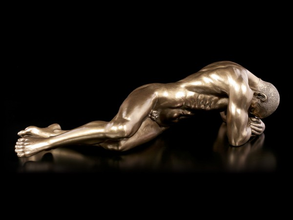 Male Nude Figurine - Lying on the Ground - large