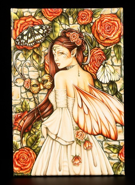 Leinwand-Druck - Vintage Rose - Jessica Galbreth