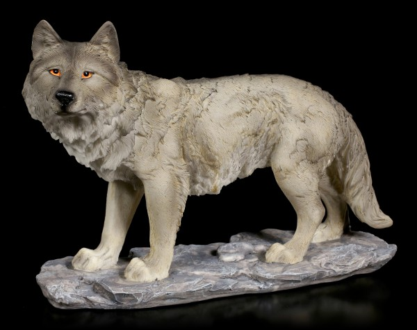 Grey Wolf Figurine - A Track in the Air