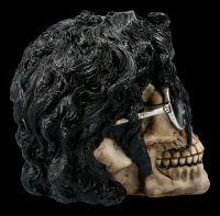 Totenkopf Figur mit Brille - Bad