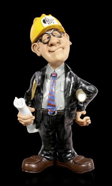 Funny Jobs Figur - Ingenieur mit gelben Helm