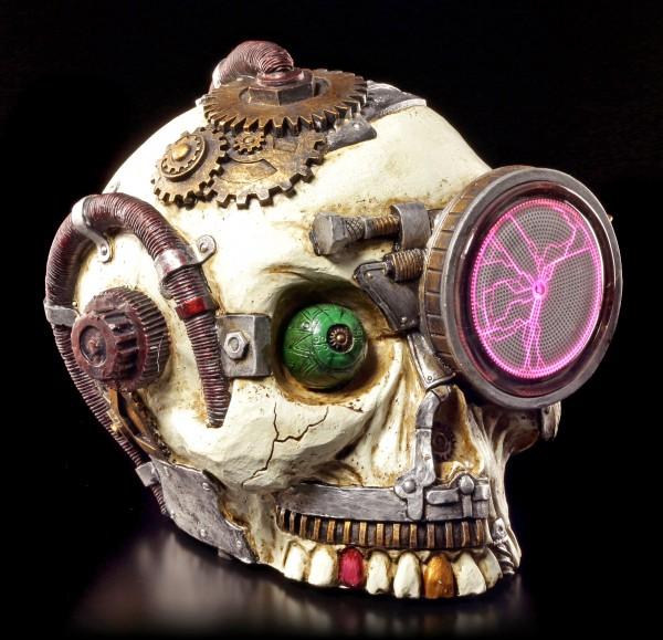 Totenkopf Steampunk mit Plasma Auge