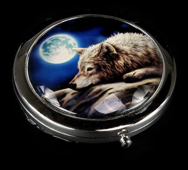 Taschenspiegel mit Wolf - Quiet Reflection