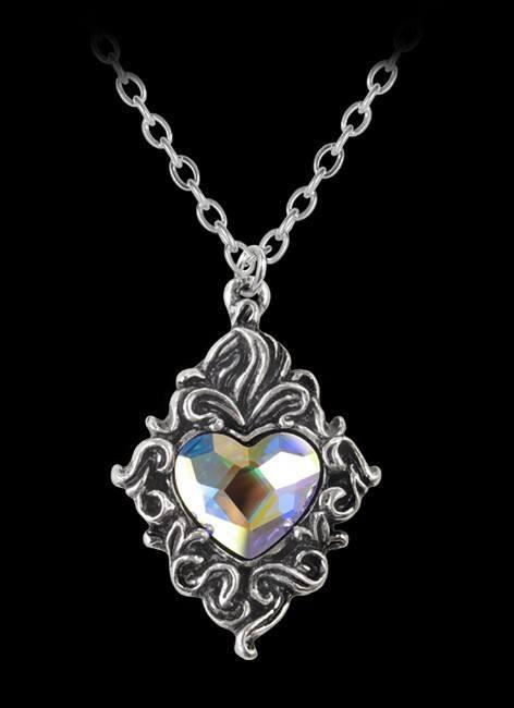 Alchemy Gothic Halskette - Crytsal Heart