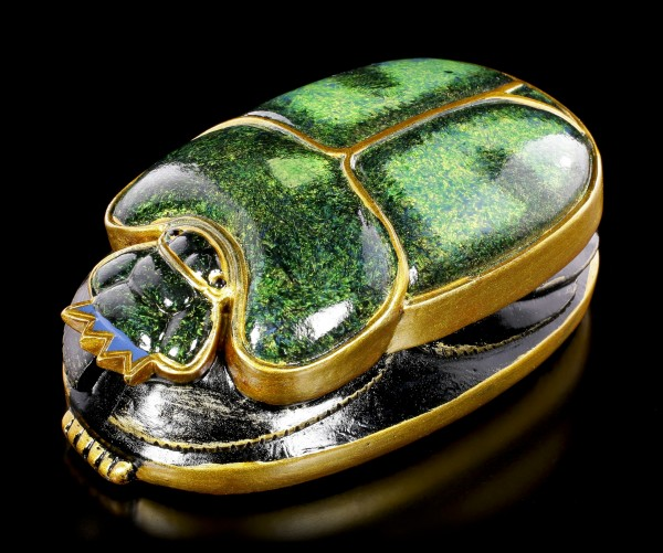 Scarab Figurine gree-gold