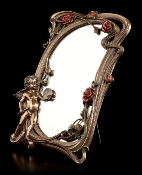 Jugendstil Spiegel - Kleiner Engel