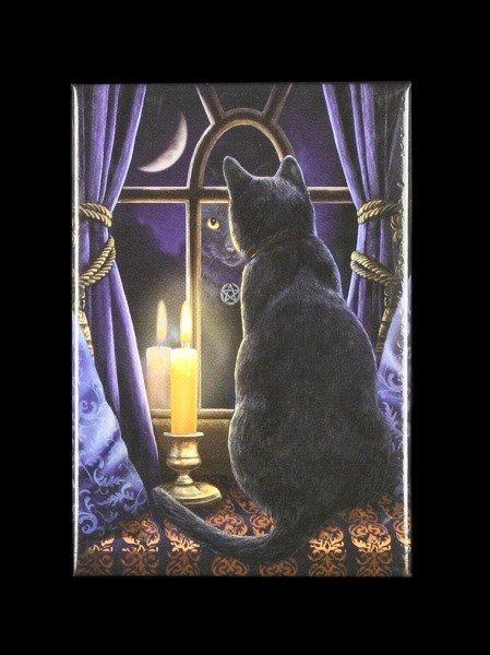 Magnet mit Katze - Midnight Virgil by Lisa Parker