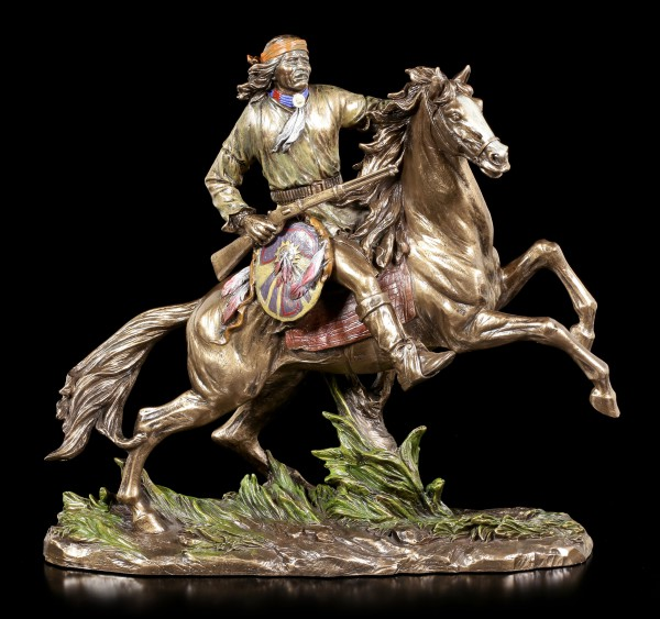 Indian Figurine - Apache on Horse
