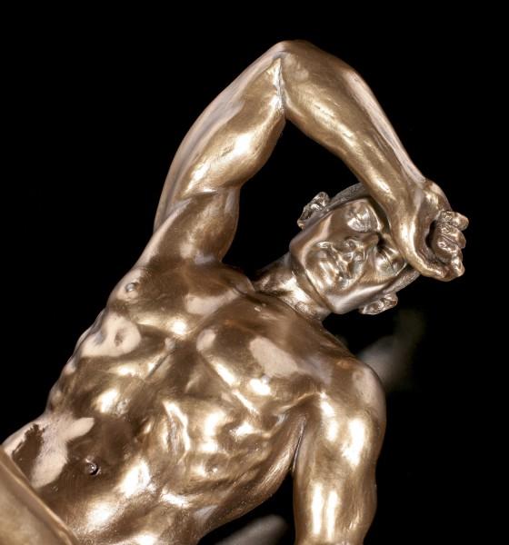 Male Nude Figurine - Lying on Back