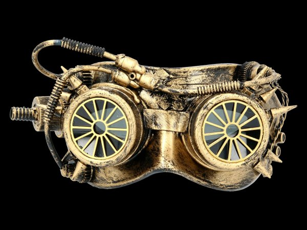 Steampunk Maske - Mechanical Wheels