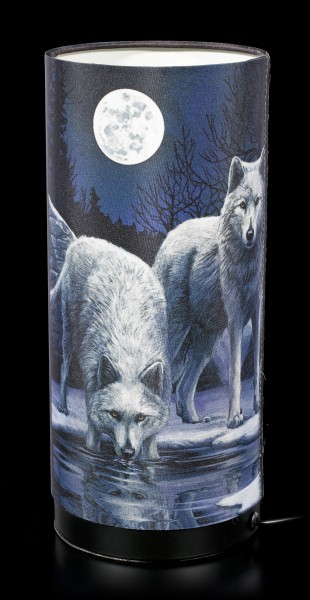 Table Lamp with Wolves - Warriors of Winter