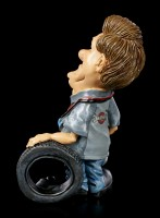 Funny Job Figurine - Mechanic with Tyre