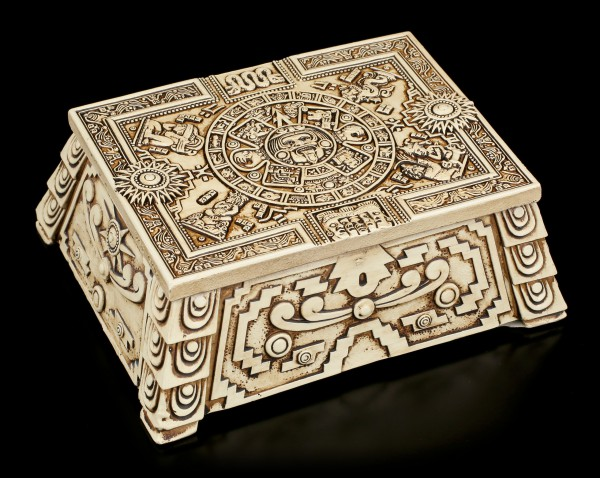 Aztec Box with Maya Calendar