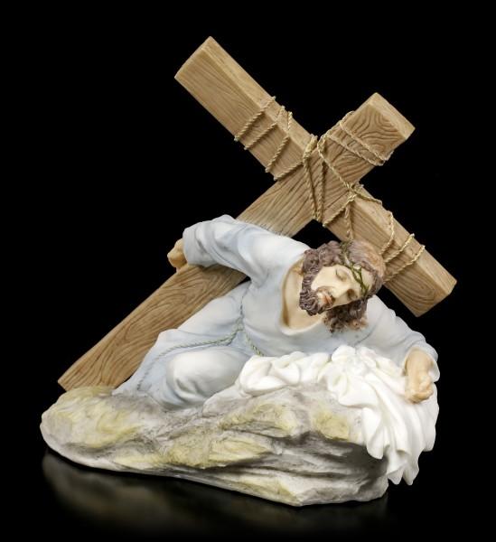 Jesus Figur - Auf dem Kreuzweg - bunt