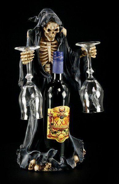 Vater Tod Flaschen & Glas Halter