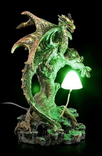 Dragon Figurine with LED - Woodland Guardian