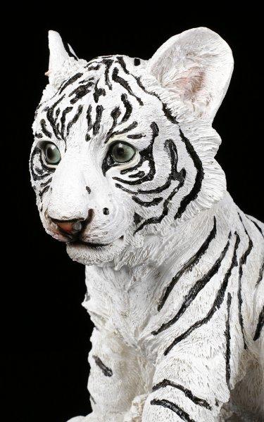Weiße Tiger Figur - Kleines Baby sitzend