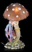 Elfen Nachtlicht mit Pilz - Lila