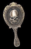 Handspiegel - Gothic Totenschädel