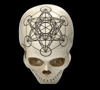 Totenkopf - Heilige Geometrie - Metatron Würfel