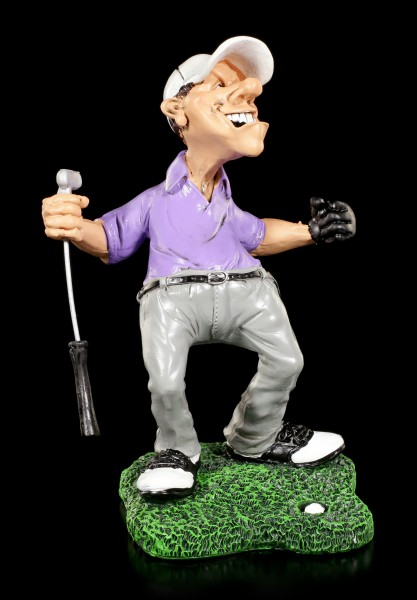 Cheering Golfer Figurine - Hole-in-One