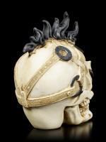 Kleiner Totenkopf mit Irokesenschnitt